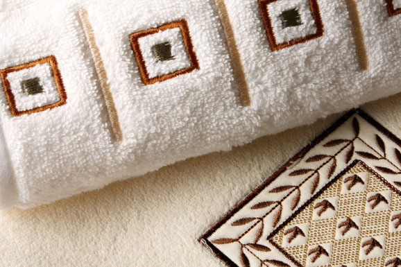 Antique Embroidery Design Bath Towels